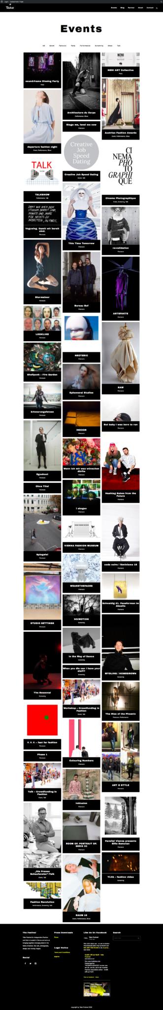 Take Festival by 36 digital&more Website Design