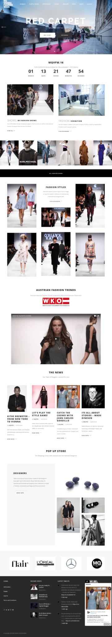 Vienna Fashion Week by 36 digital&more Website Design