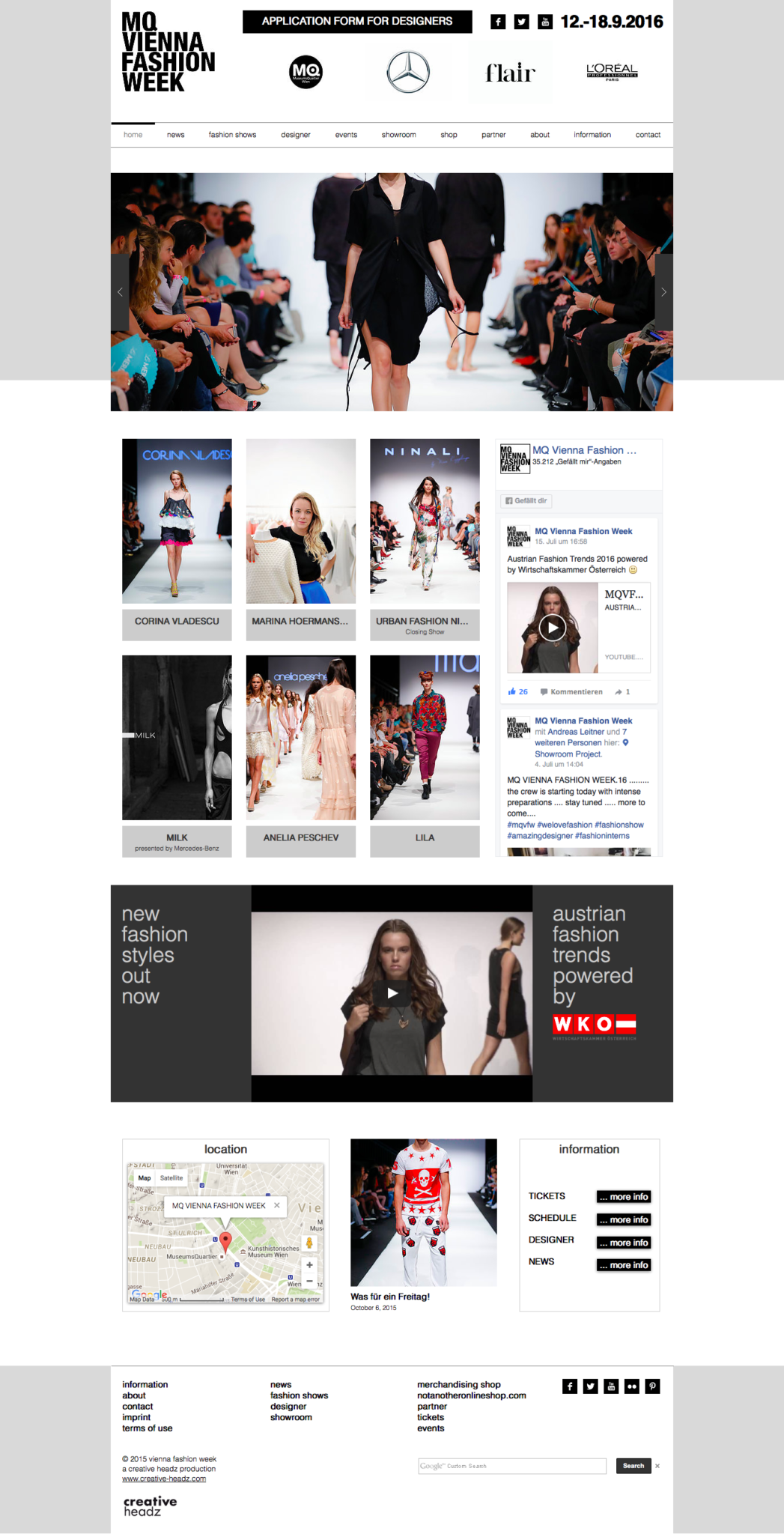 Vienna Fashion Week by 36 digital&more Website Design