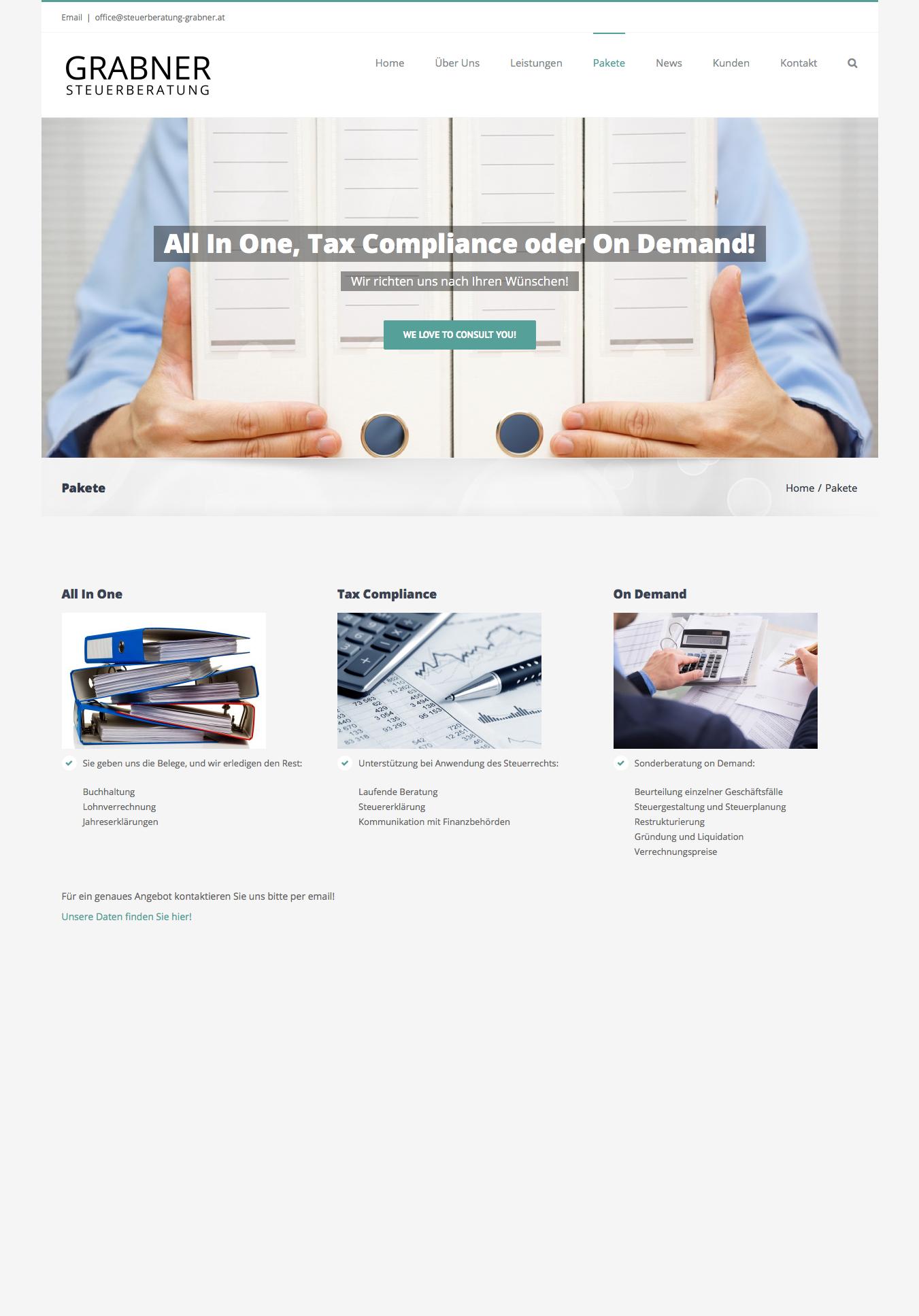 Steuerberatung Grabner by 36 digital&more Website Design