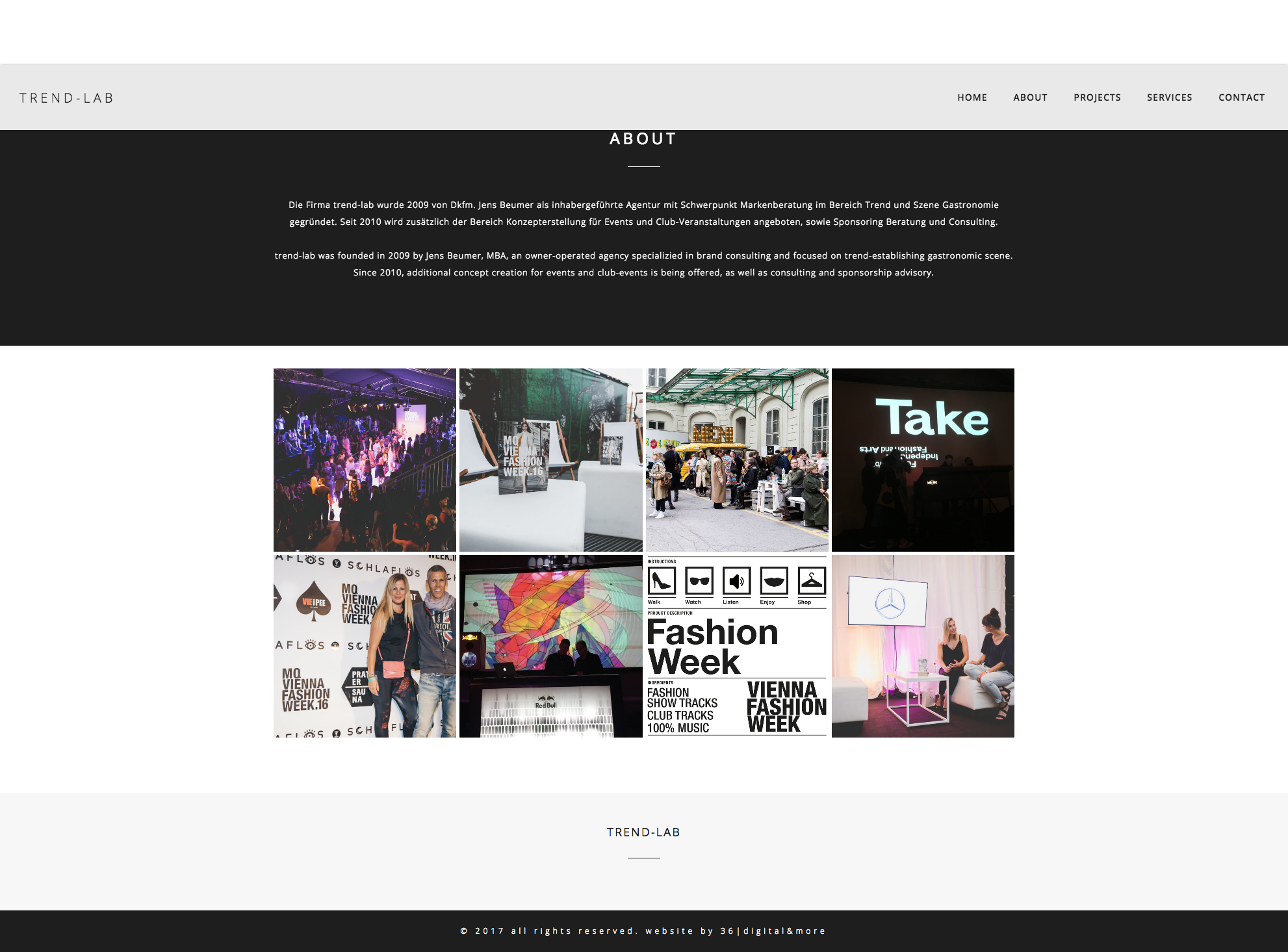Trend Lab Website Design by 36 digital&more