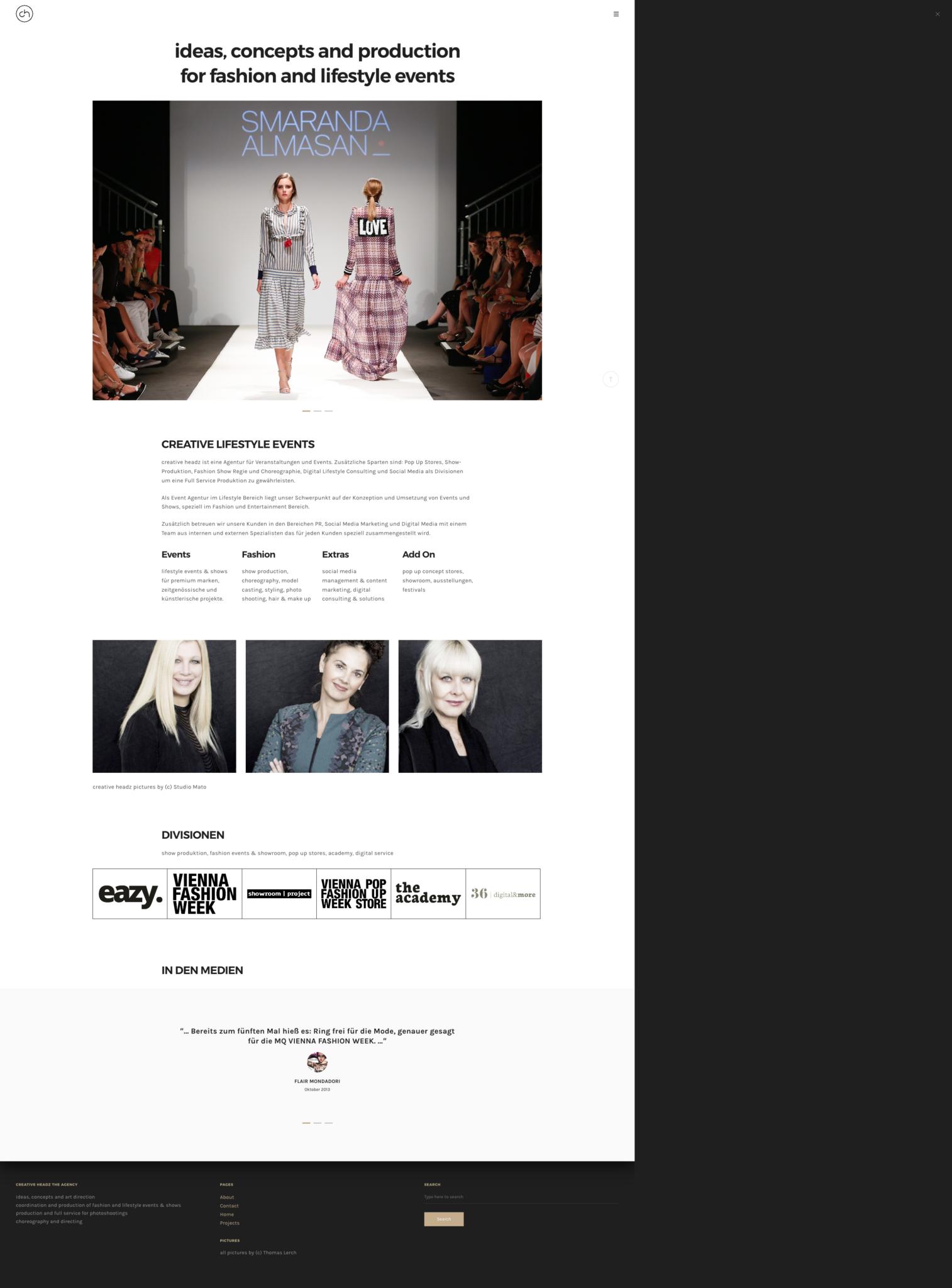 creative headz Website Design by 36 digital&more