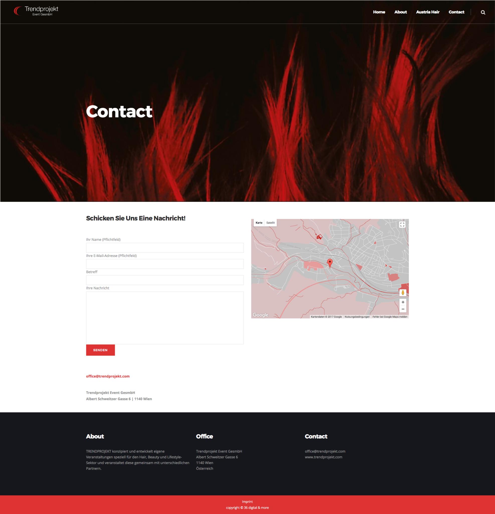 Trendprojekt Website Design by 36 digital&more
