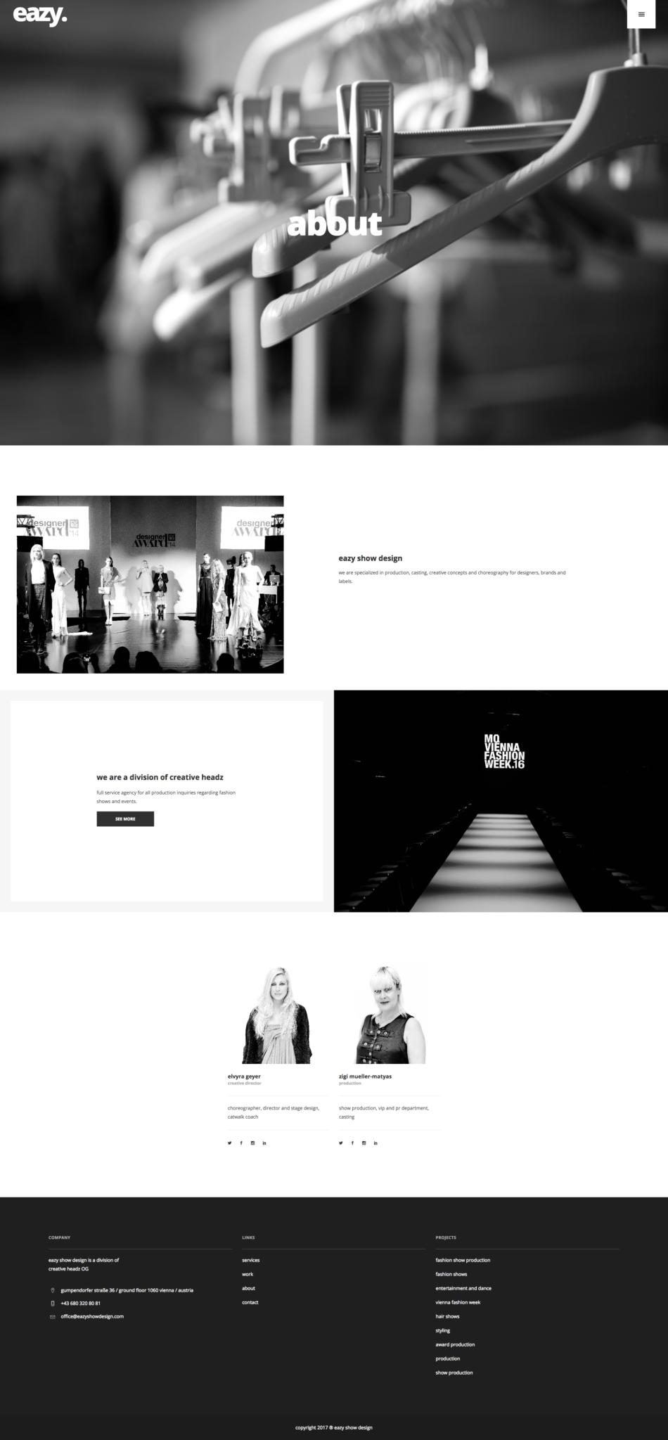 eazy show design Website Design by 36 digital&more