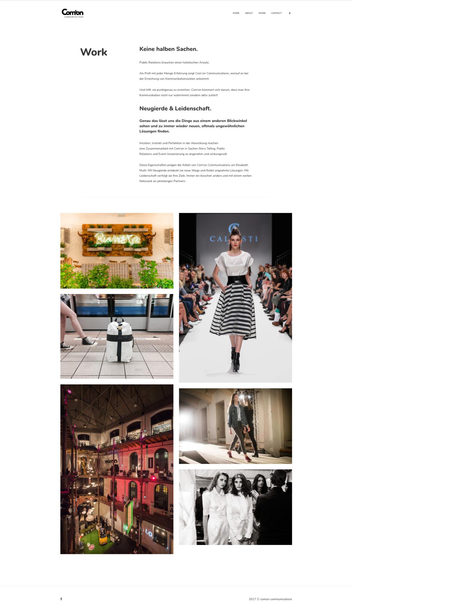 comon communications Website Design 36 digital&more