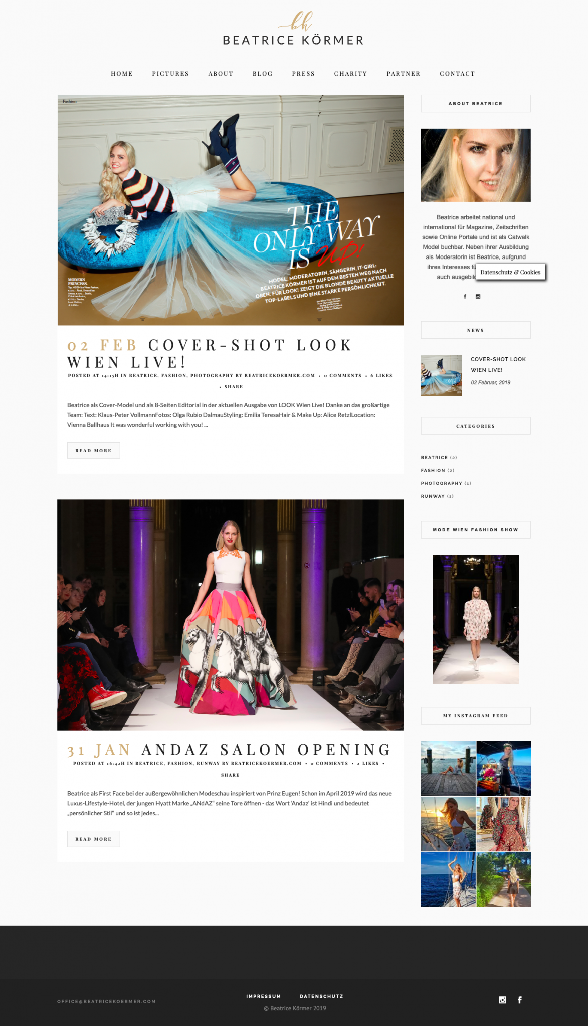 Beatrice Körmer Website Design by 36 digital&more
